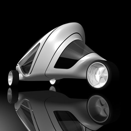 Rove, the website of art dealer Kenny Schachter, presents new images of the Z.Car concept vehicle he commissioned from architect Zaha Hadid. The images include renderings of the vehicle and photos of the prototype being manufactured. A prototype of the three-wheeled vehicle is currently on display at the Design Museum in London as part of