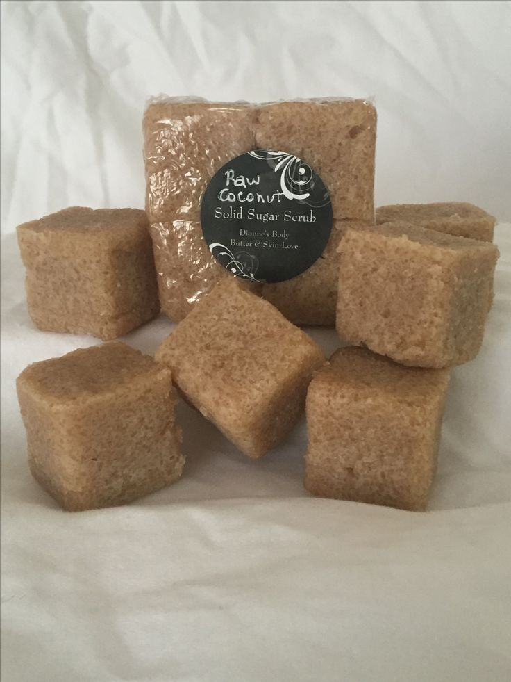 Coconut oil and raw brown sugar comes together to create a skin nourishing treat www.dionnesbodybutter.com