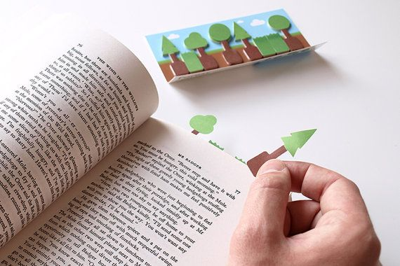 Forest Sticky Page Markers from dshott on Etsy