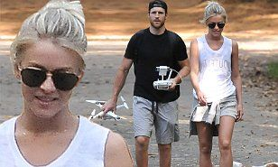Julianne Hough and fiance Brooks Laich take their love to new heights | Daily Mail Online