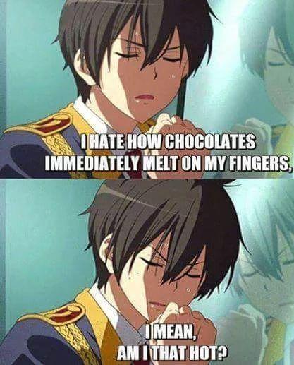 Es Que soy tan sexy que se derrite el chocolate en mis dedos XD