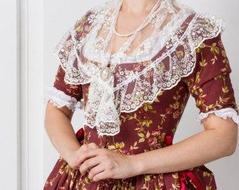 Robe à la polonaise, ensemble: robe + Fichu + couvre-chefs, XVIIIe siècle, l'Europe.