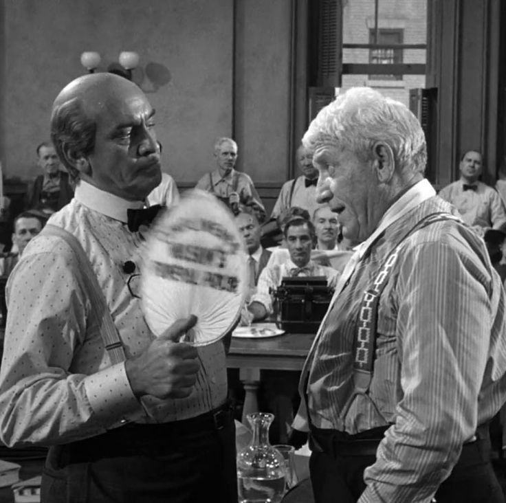 """Fredric March y Spencer Tracy en """"La Herencia del Viento"""" (Inherit The Wind), 1960"""