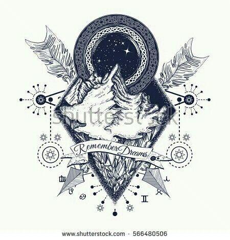 Tattoo 25+ Ideen Berge verträumt