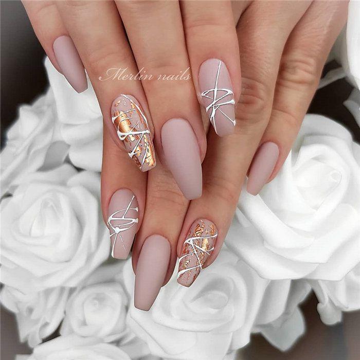 70 + Hochzeit Natural Gel Nails Design-Ideen für die Braut 2019 – Nails