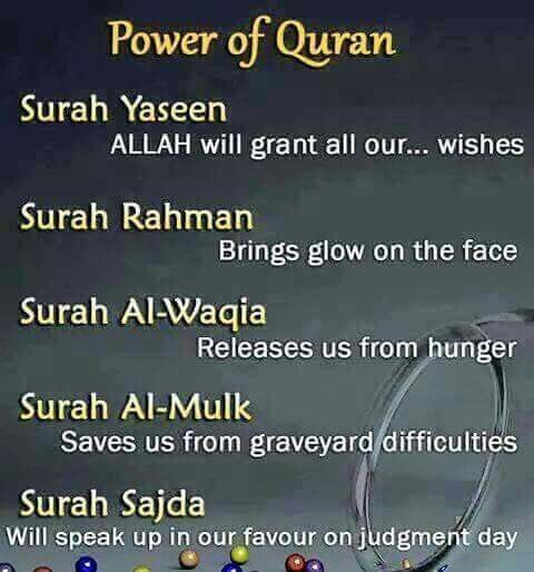 Benefits and wisdom of Quran. SubhanAllah.
