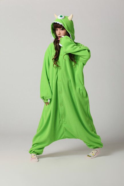 Unisex Monsters Inc Mike Wazowski Onesie... this would be awesome for our disney christmas in pajamas!! If there were only sully for D and Boo for the girls!!