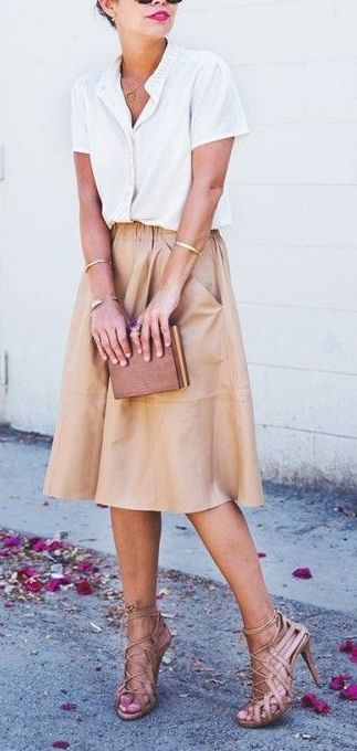 Full midi skirts are the perfect Spring and Summer investment purchases.