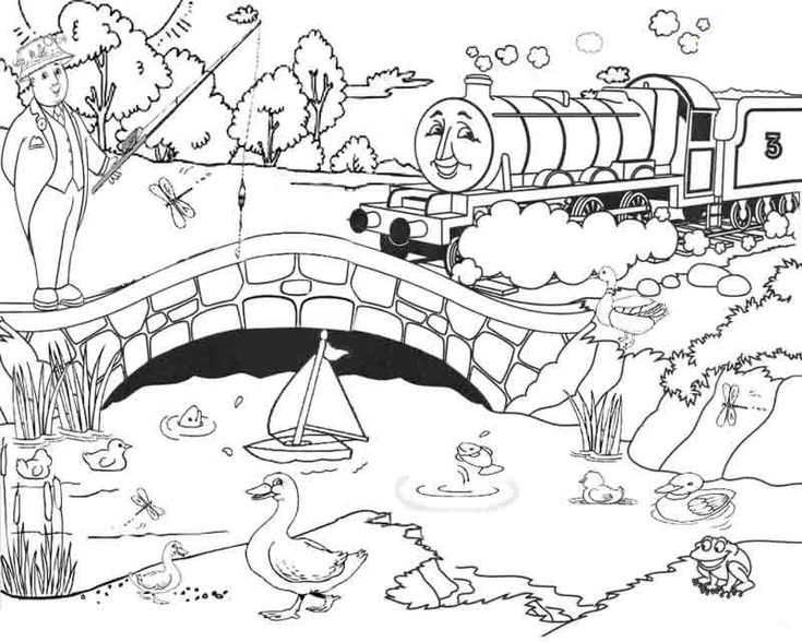 thomas coloring pages train engineer - photo#22