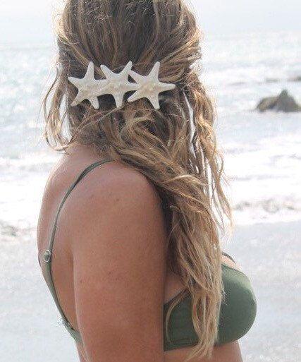 Knobby Trio Barrette Starfish Hair Clip Mermaid di PoppyCoast