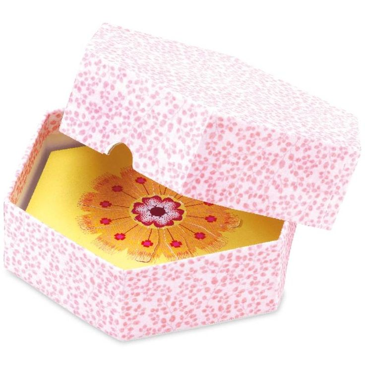 Knutseldoos  'Bloemblaadjes en meeldraden', roze