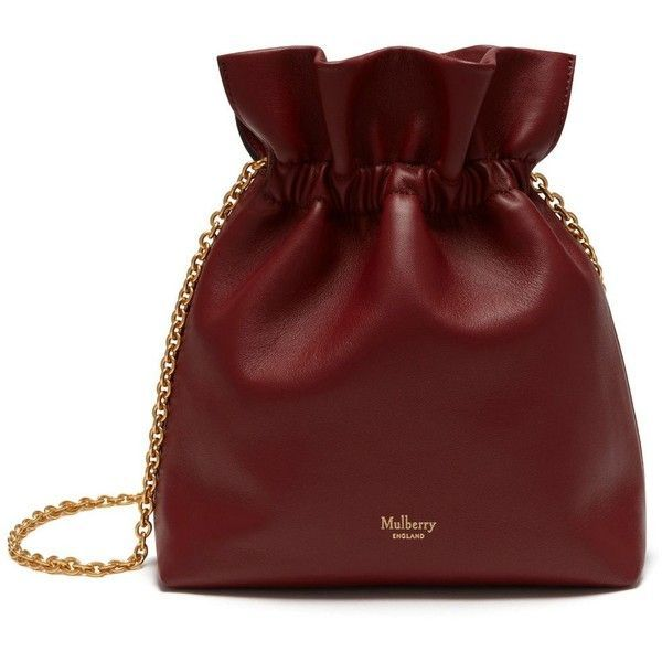 Mulberry Lynton Mini Bucket ($825) ❤ liked on Polyvore featuring bags, handbags, shoulder bags, antique ruby, genuine leather handbags, leather handbags, red purse, chain shoulder bag and red shoulder bag #leatherhandbags