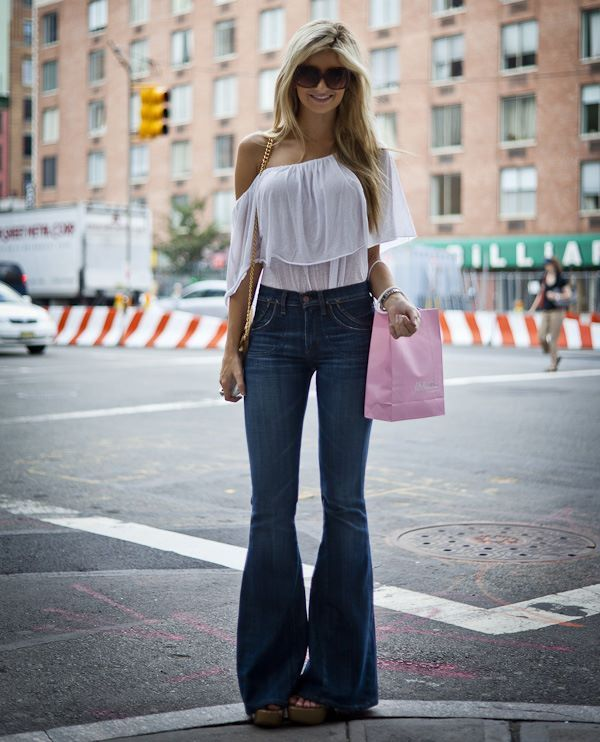 Bell Bottoms are classic... And that shirt!!!