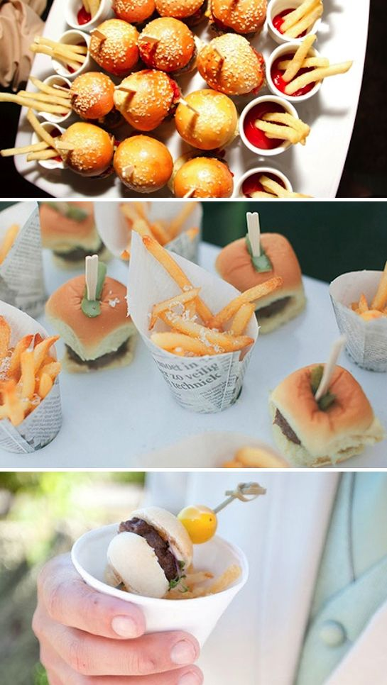 wedding food sliders