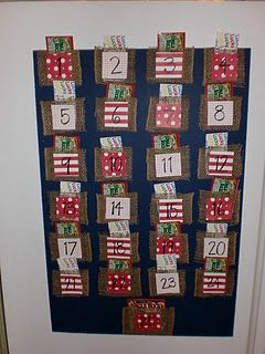 Adult advent calendar using scratch and win lottery tickets. So fun!
