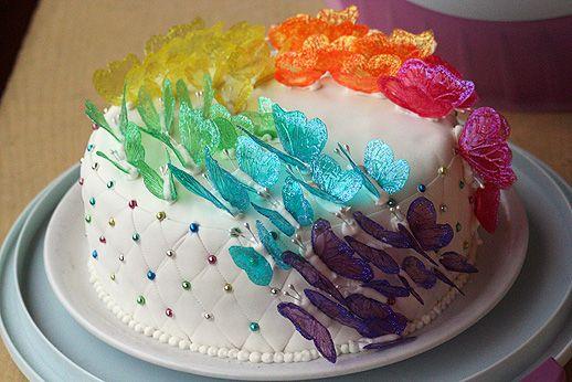 Arcobaleno di farfalle (torta mio compleanno 2011) - Archivi - Cookaround forum
