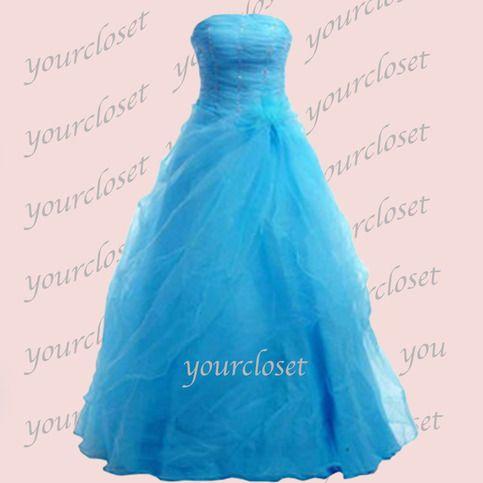 Elegant slim organza prom dress / homecoming dress from Your Closet #coniefox #2016prom