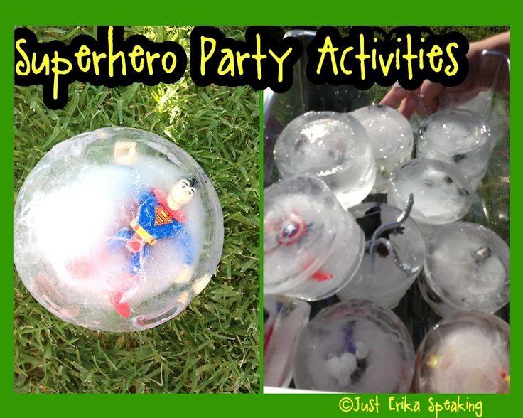 Superhero Party Activities www.just-erika-speaking.blogspot.com