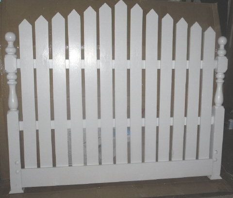 Furniture > Bedroom Furniture > Headboard > Picket Fence Headboard (wish I had not thrown away that old headboard .... could have converted it to this)