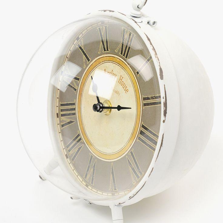 Relógio de Mesa Cápsula Branca | referência 74073192 | A Loja do Gato Preto | #alojadogatopreto | #shoponline
