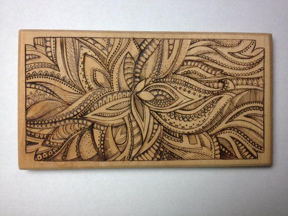 Wooden flower wood burning