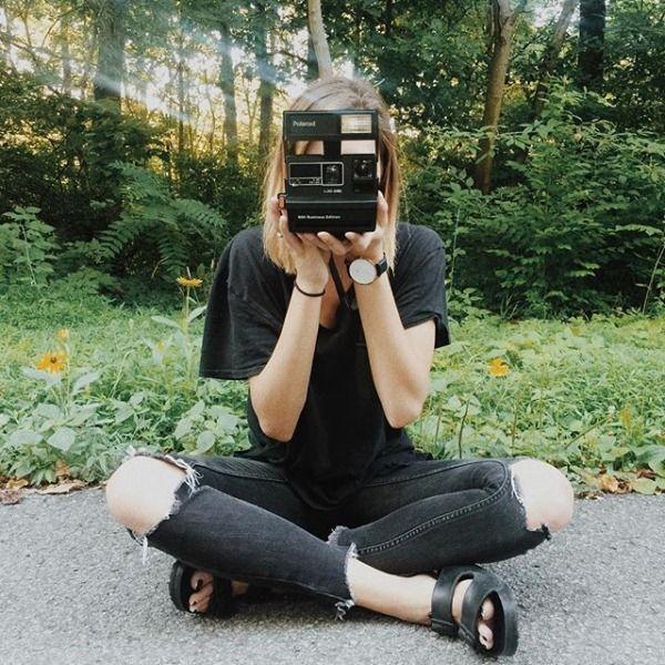 @jakkaiser #UOonYou   Impossible Refurbished '80s-Style Polaroid 600 Camera and Film Set