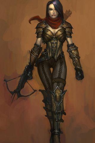 Diablo 3 - Demon Hunter in 2019   Fantasy female warrior ...