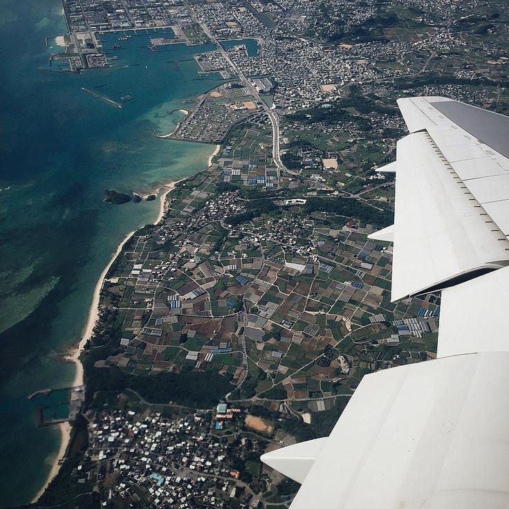 "Landscape borders ""Leaving sunny Okinawa before the rain season started"" @Mette Willert"
