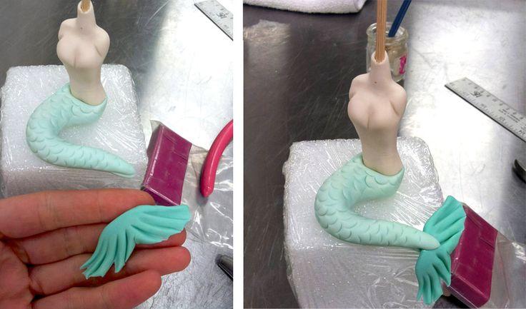How to create a Nautical Themed Mermaid Cake Topper