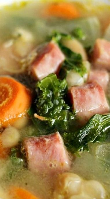 how to make navy bean and ham soup