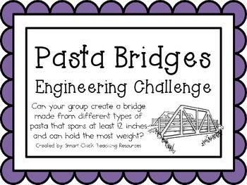 Pasta Bridges: Engineering Challenge Project ~ Great STEM Activity!  $