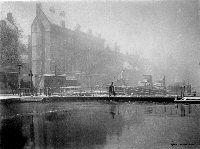 Gezicht  op de Coolsingel met draaibrug. Henri Berssenbrugge.