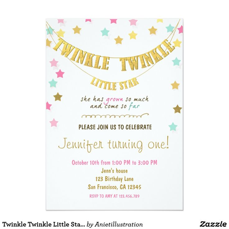 Twinkle Twinkle Little Star Chalkboard invitation ♥ A perfect way to invite your guests to your little one's birthday party!