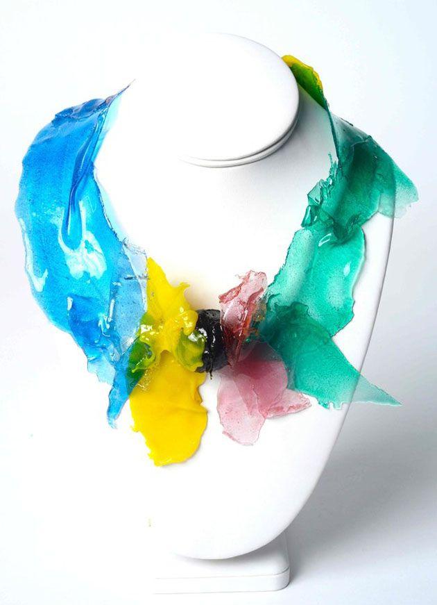 Beautiful Gaetano Pesce Resin neckpiece