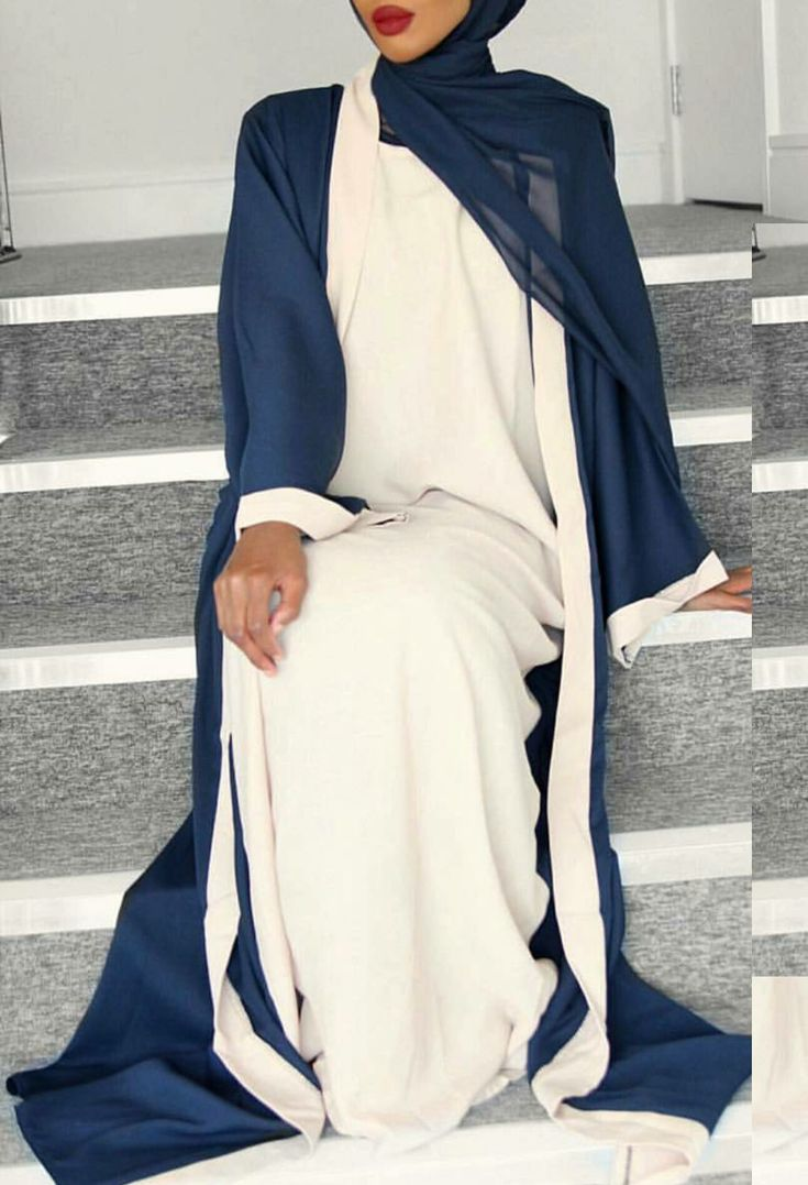 Navy & cream twin set limited edition from Abayas Boutique