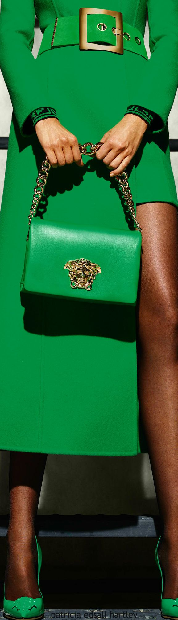 Versace | Palazzo Patent Leather Shoulder Bag | V