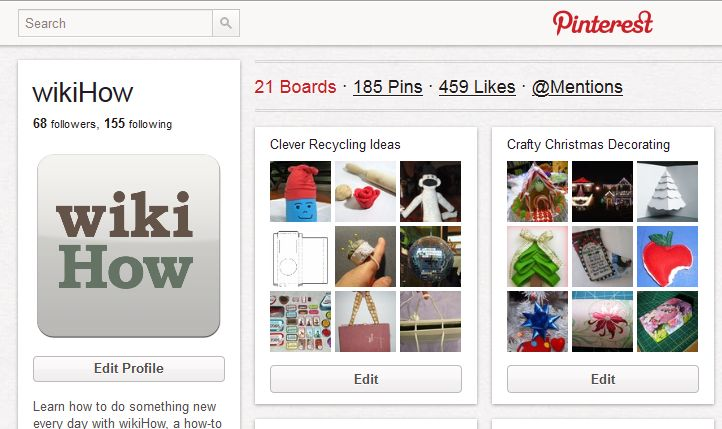 How to Use Pinterest via www.wikiHow.com