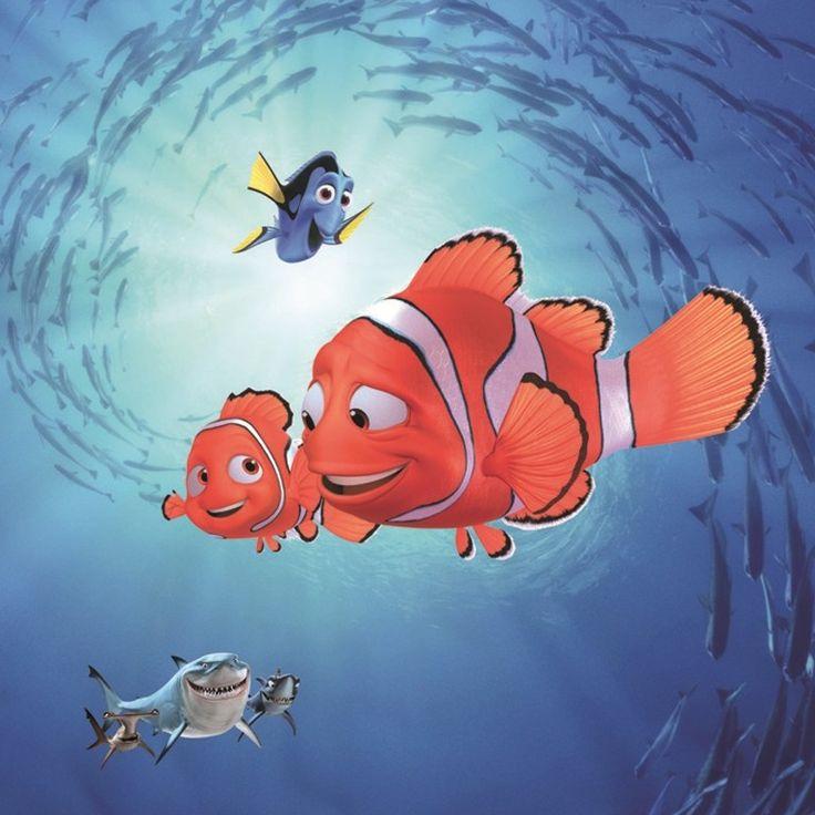 Canvas Nemo - Ocean met afmetingen 35x35 cm en met een houten kader. #Disney #Pixar #FindingNemo