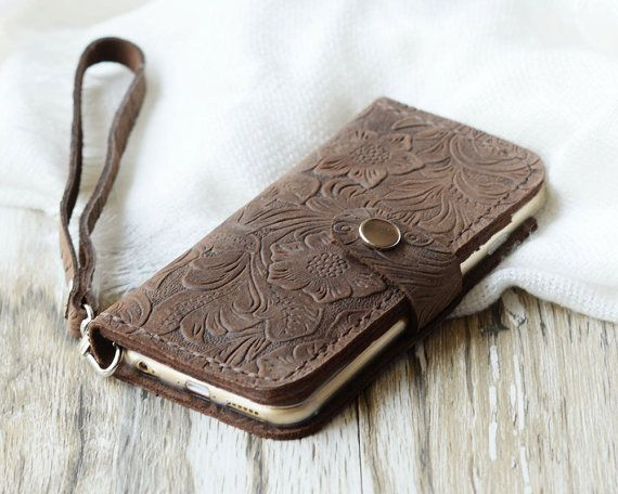 Wristlet iPhone 6 wallet case iPhone 5s wallet case by ExtraStudio