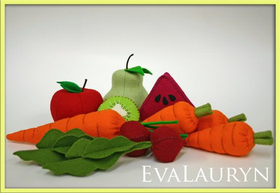 Wool Felt Play Food  Beets  Vegetables Fresh from the by EvaLauryn, $34.00