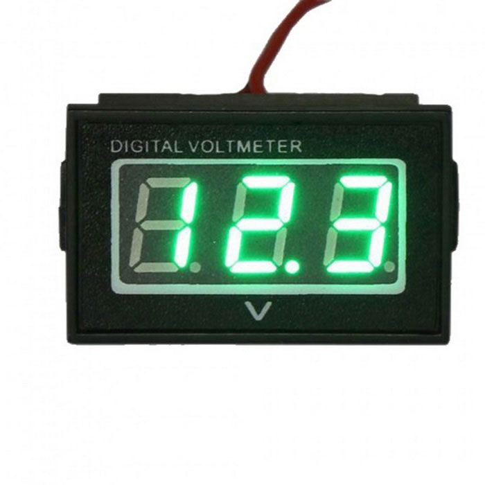 Waterproof Monitor Battery Meter 2.7-30V DC Auto Gauge Small Digital Voltmeter Green LED Reverse. Find the cool gadgets at a incredibly low price with worldwide free shipping here. Waterproof Monitor Battery Meter 2.7-30V DC Auto Gauge Voltmeter, DIY Parts & Components, . Tags: #Electrical #Tools #DIY #Parts #Components