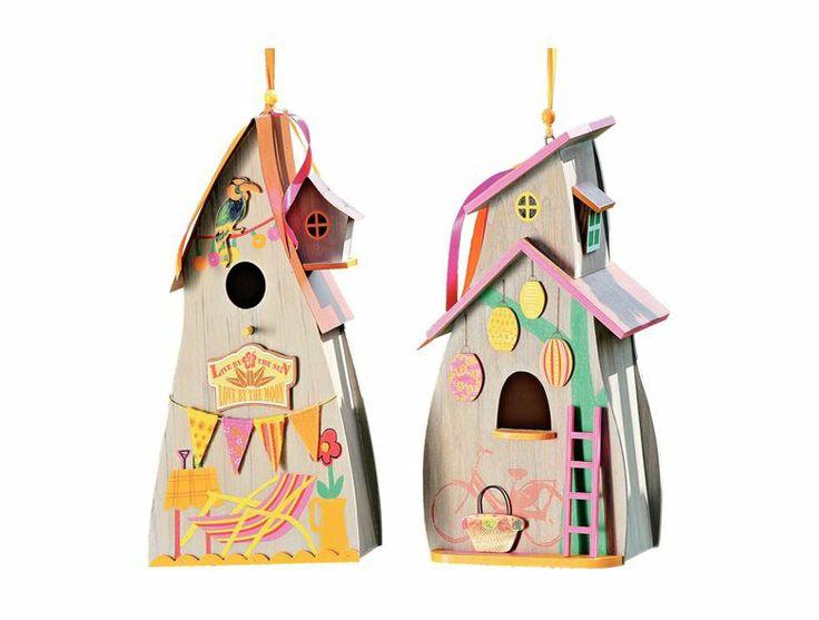 Gazduiti in casute colorate micile vietuitoare.  Casa pasari, 119 lei. #decoratiuni #primavara #kikaromania #mobilier