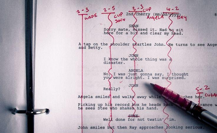 Lining a screenplay