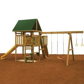 PlayStar Legend Qualifier Expandable Residential Wood Playset with Swings