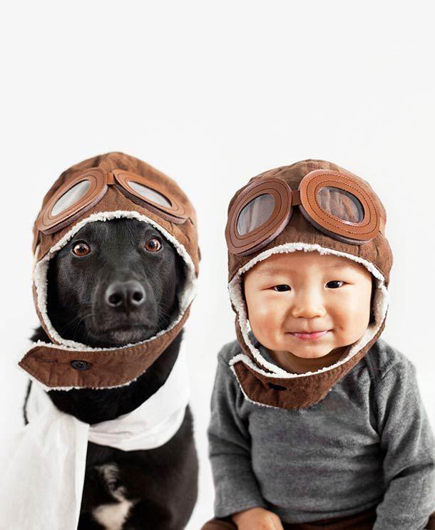 Quand une maman réalise d'adorables portraits de son bébé et du chien qu'elle a recueilli…