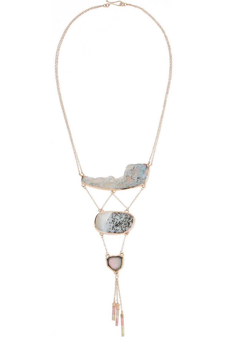 incest sonofka.biz girl Melissa Joy Manning | 14-karat gold multi-stone necklace | NET-A