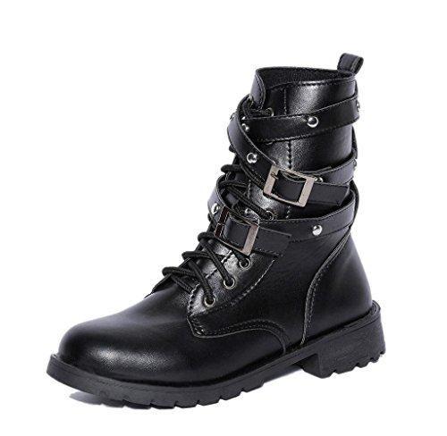 Oferta: 14.39€. Comprar Ofertas de Botas Punk de mujer, Zapato Militar Invierno Comodo Casual Martin Boots (38) barato. ¡Mira las ofertas!