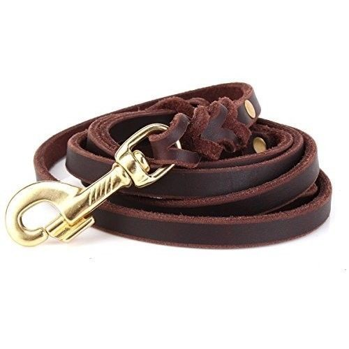 Leather Dog Leash Braided Military Grade Heavy Duty Training Leash , Small Dogs #LeatherDogLeash