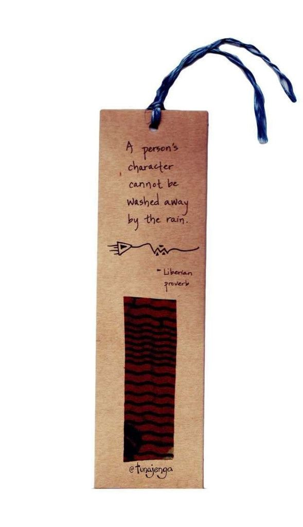 Kitenge Fair Trade African Proverb Character Bookmark