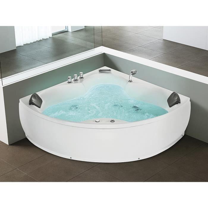 BAIGNOIRE - KIT BALNEO Baignoire d'angle - baignoire balnéo / whirlpool - hydromassage & chromothérapie - Senado